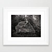 oscar wilde Framed Art Prints featuring Oscar Wilde by Romeo & Rebeccah