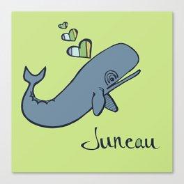 Whale Love Canvas Print