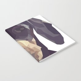 Geometric Sausage Dog Digitally Created Notebook