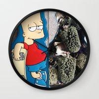 simpson Wall Clocks featuring Bart Simpson by Arran.Sahota