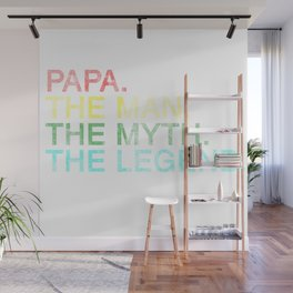 Best Dad Family Parents Love Fathers Day Gift Wall Mural
