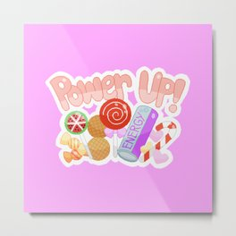 Candy Power Up Metal Print