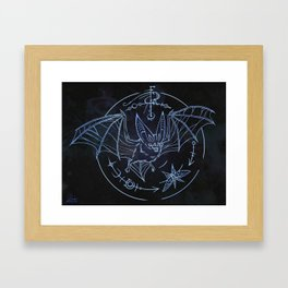Bat Patronus Glyph Framed Art Print