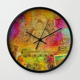 Ethereal Buddha Wall Clock
