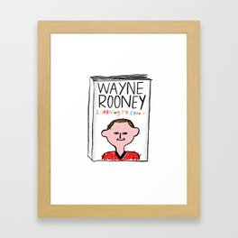 Wayne Rooney's autobiography Framed Art Print