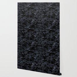 Pixelated Dark Grey Camouflage Wallpaper