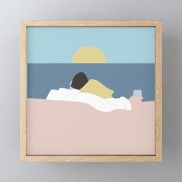 Feelings into sunset Framed Mini Art Print