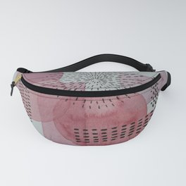 Pink Tones and Shapes Fanny Pack