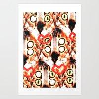 Cat Eye Print Art Print