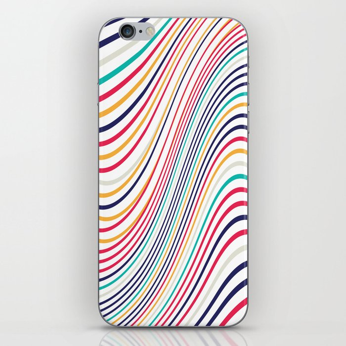 Abstract color waves iPhone Skin