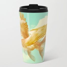 Flying Goldfish Metal Travel Mug