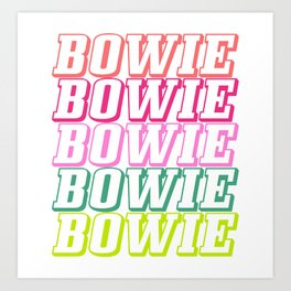 bowie repeat Art Print