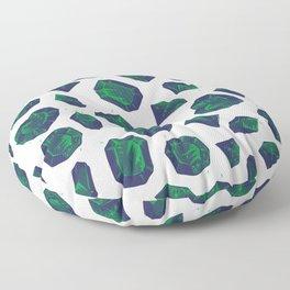 Retro Vintage St Patricks Day Green Gems Floor Pillow