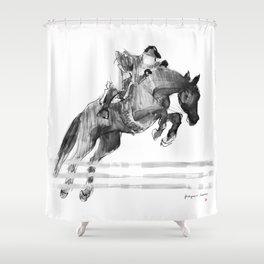 Horse Jumper Shower Curtain