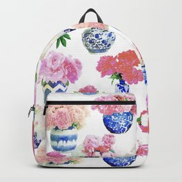 Ginger Jar Peonies Backpack