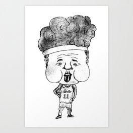 Basketball player Girdi rolls like a stone (JPEG) Art Print