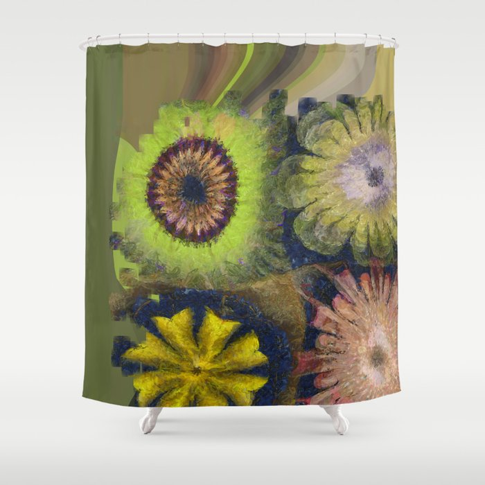 Methylator Structure Flowers  ID:16165-011604-36970 Shower Curtain