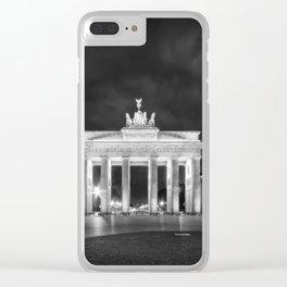 BERLIN Brandenburg Gate   Monochrome Clear iPhone Case