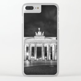 BERLIN Brandenburg Gate | Monochrome Clear iPhone Case
