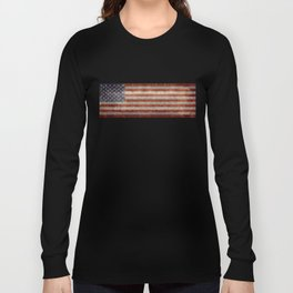 USA flag - Retro vintage Banner Long Sleeve T-shirt