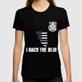 Nevada Police Appreciation Thin Blue Line I Back The Blue T-shirt