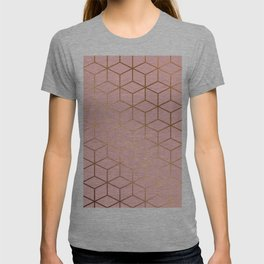 Pink and Gold Geometry 011 T-shirt