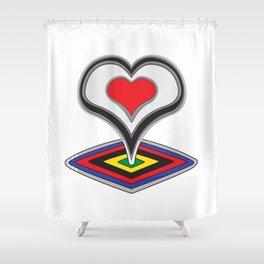 De Rosa Shower Curtain