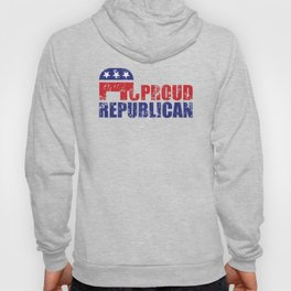 Proud Republican Elephant Distressed Hoody