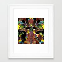 metallic Framed Art Prints featuring metallic by gasponce