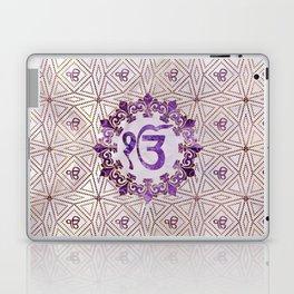 Amethyst and gold Ek Onkar / Ik Onkar symbol Laptop & iPad Skin