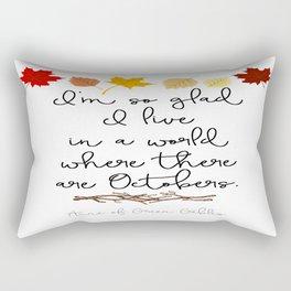 World of Octobers Rectangular Pillow