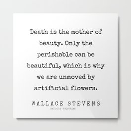 4     200227   Wallace Stevens Quotes   Wallace Stevens Poems Metal Print