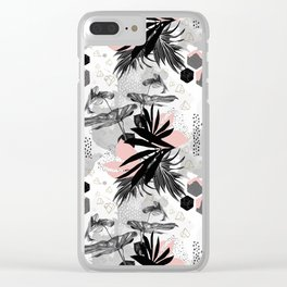Abstract doodle nature Clear iPhone Case