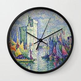 "Paul Signac  ""Arc-en-ciel, La Rochelle, le Port"" Wall Clock"