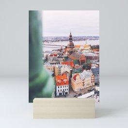 Scraping the Sky in Riga, Latvia Mini Art Print