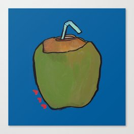 Fresh Coconut - ready to sip! Canvas Print