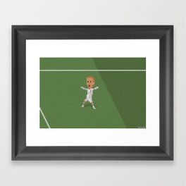 Beckham's celebration against Greece Framed Art Print