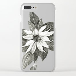 Florida Flower with Green Background Clear iPhone Case