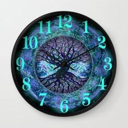 Earth Circle of Light Wall Clock