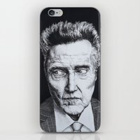 christopher walken iPhone & iPod Skins featuring Portrait of Christopher Walken by NAB Artwork