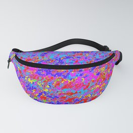 Abstract Design with mostly Pink, Red, and Blue. Fanny Pack