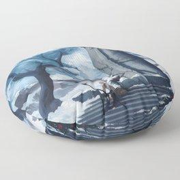 Frozen in time Floor Pillow