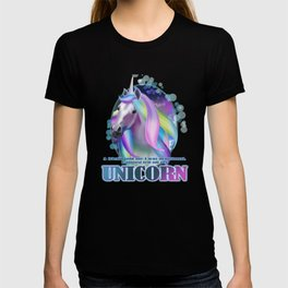 A friend told me I was delusional I almost fell off my Unicorn -Funny Sarcastic Humor T-Shirt T-shirt