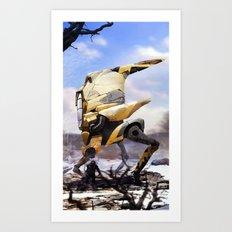 Winter Walker. 2167.  Art Print