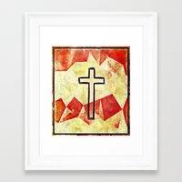 cross Framed Art Prints featuring Cross by 6-4-3