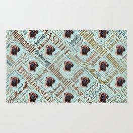 Bullmastiff Word Art Rug