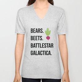 Bears Beets Battlestar Galactica Unisex V-Neck