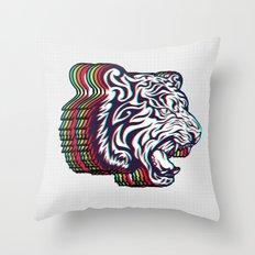 3D Tiger Throw Pillow