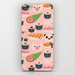 Kawaii sushi light pink iPhone Skin