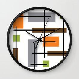 Mid Century Modern Cubicle Art Wall Clock
